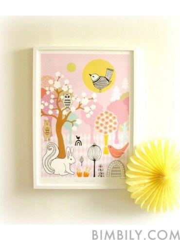 Vanilla Moon, Art Poster, Majvillan, Bimbily