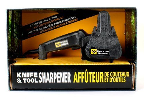 WSKTS - Work Sharp Knife and Tool Sharpener, WSKTS by WORK SHARP. Save 20 Off!. $86.01. Jusqu'à épuisement des Stocks * Sharpen every knife you own quickly and easily with repeatable, consistent results. Creates the sharpest blades you've ever had. * Easily Replaceable Abrasive Grit Belts. Comes with premium abrasive belts to meet all your sharpening needs: Coarse (P80), Medium (P220) and Fine (6000). Replacement Belt Kit is the WSSA0002012 * Precision sharpening guides provide ...