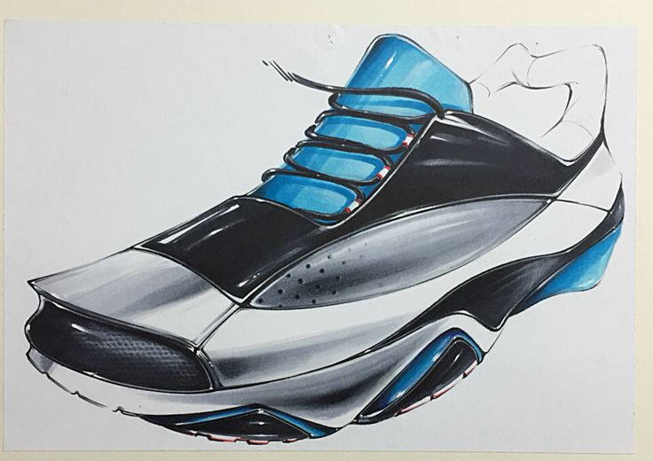 Shoes marker rendering on Behance