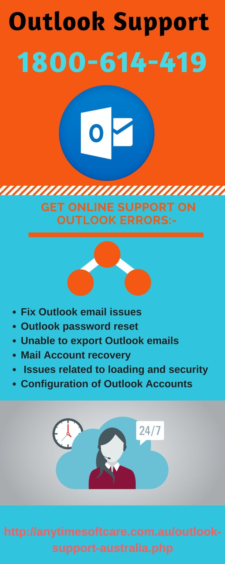 Want Hassle-Free Account Dial 1-800-614-419 For Outlook Support   We ensure a guaranteed solution and easy steps to get rid of problems like hacking, emails not delivering and much more providing Outlook Support to each user of Outlook.  So, if you are the victim, connect to our efficient and experienced technical executives by placing a direct call on toll-free no. 1-800-614-419.