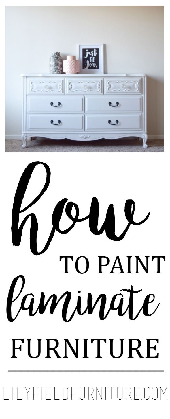 PAINTING LAMINATE FURNITURE: Do you have some fake wood furniture sitting around? Give it an update by following these simple, easy steps!