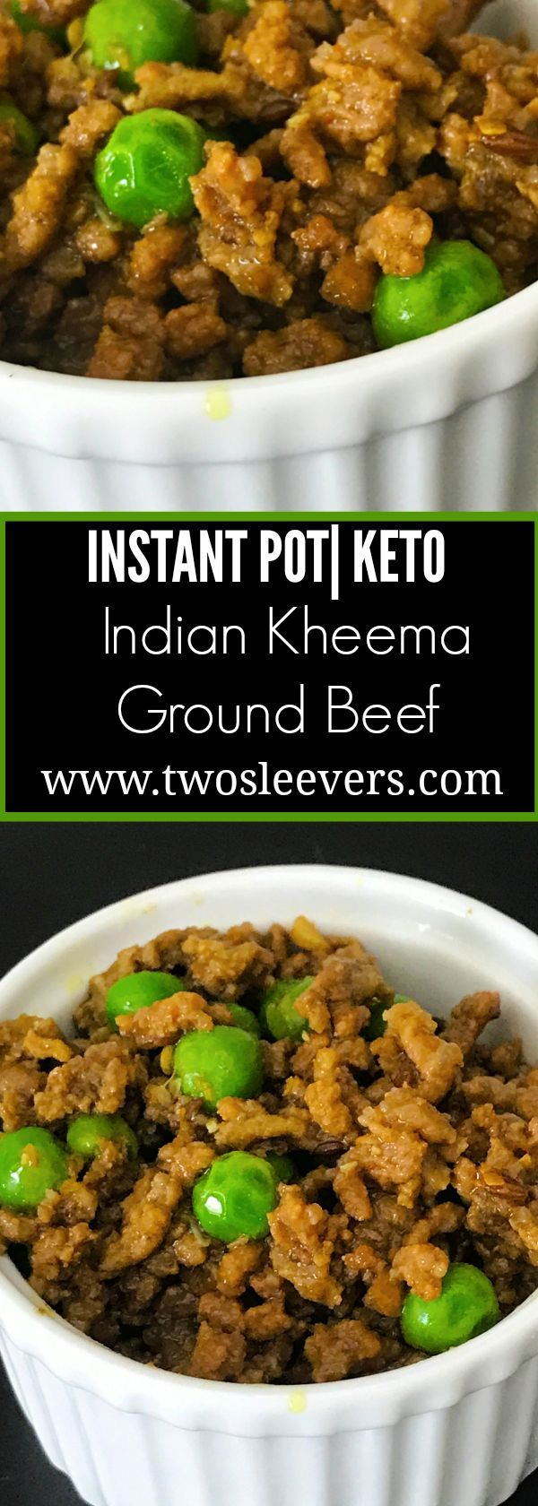 Instant Pot Keto Indian Kheema. Easy low carb recipe for ground beef. Family-friendly an ready in under 30 minutes in your pressure cooker or on the stove top. - - https://twosleevers.com?utm_content=buffera7274&utm_medium=social&utm_source=pinterest.com&utm_campaign=buffer