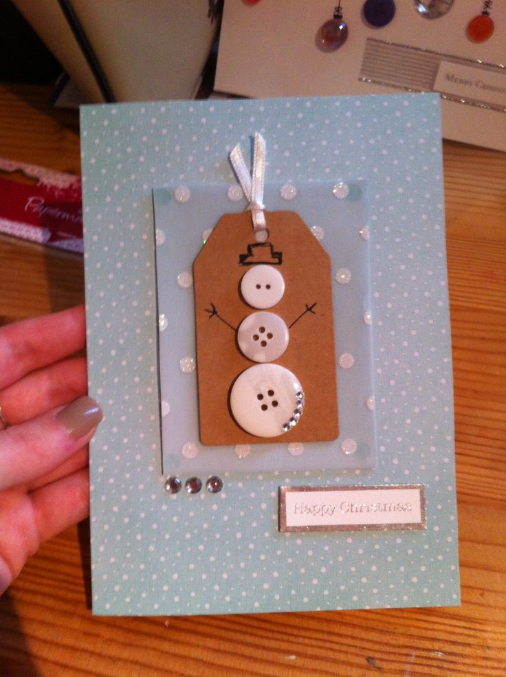 Christmas card snowman design