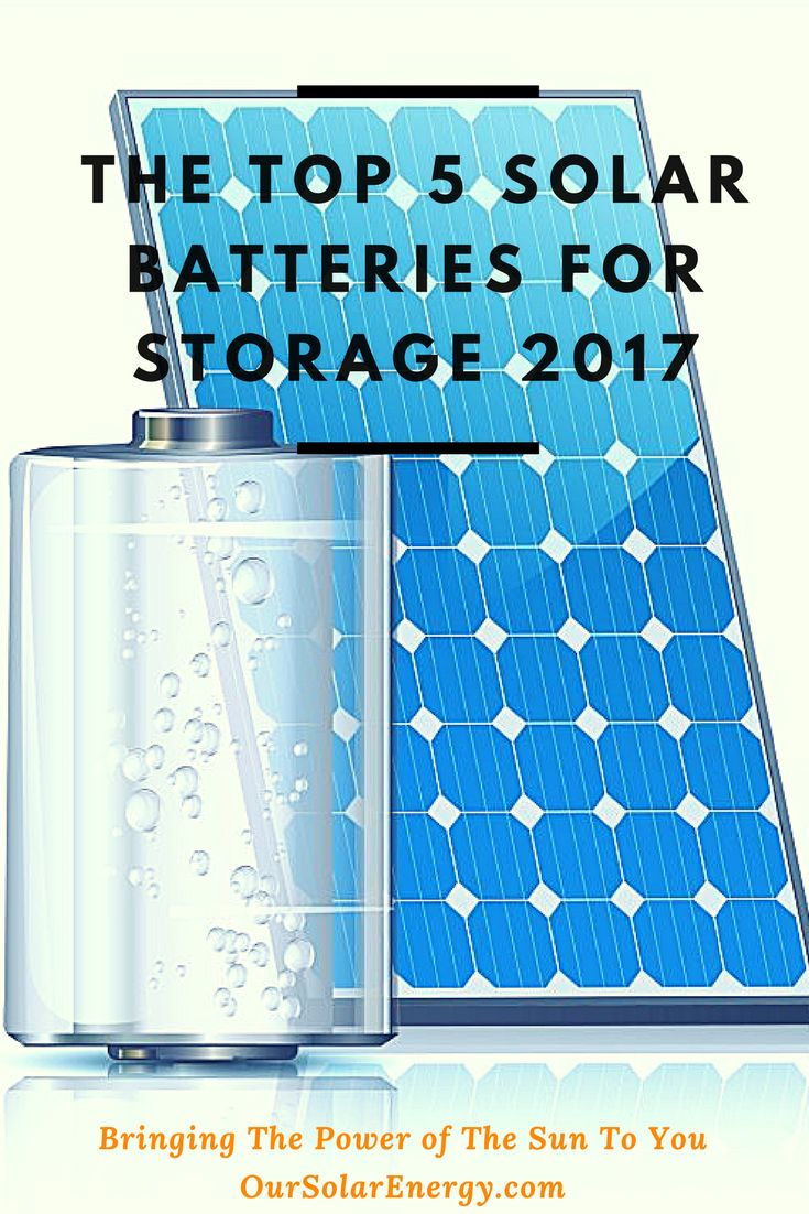 There is no point having solar panels in your home if you don't have the best batteries to store power for use when the sun goes down is there?