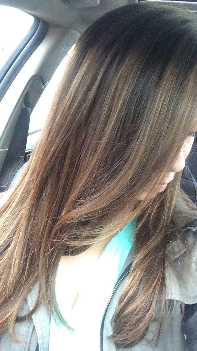 Brown Hair With Caramel Highlights Hair Pinterest