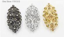 1 st hoogwaardige 2.7 cm * 5.5 cm Steentjes metalen bont knoppen voor windjack bontjas sjaal decoratieve lederen gesp knoppen(China)