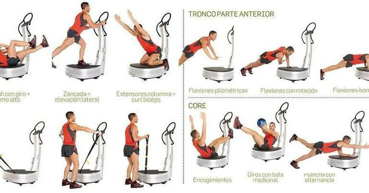 Rutina de ejercicios recomendada para practicar en tu plataforma vibratoria