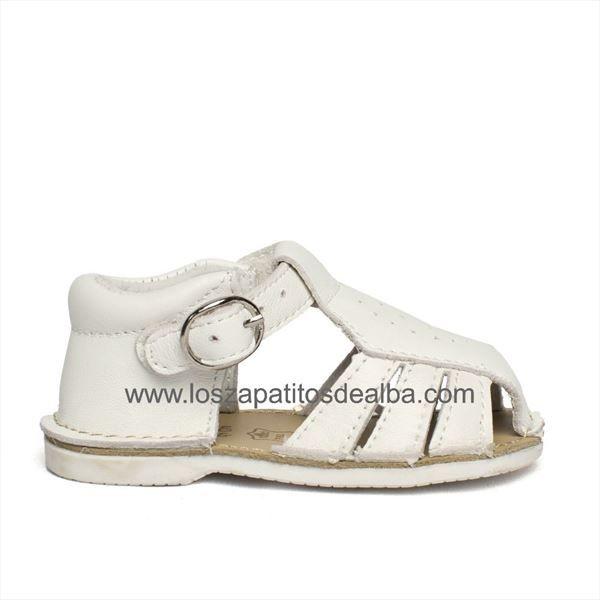 Sandalias Blanco Modelo TroqueladoZapatos Bebés Cangrejeras CoedxB