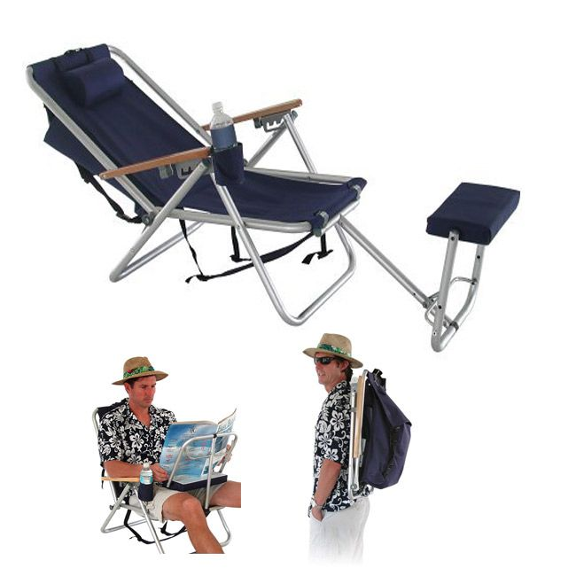 WearEver Deluxe Backpack Lounger / Chair @BeachMall.com
