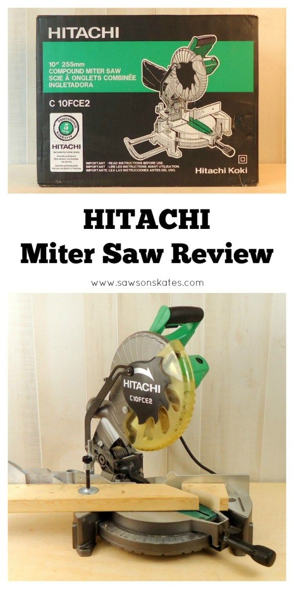 "Need a miter saw for DIY projects? Check out this review of the 10"" Hitachi Miter Saw!"