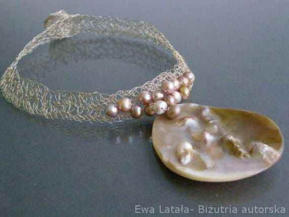 """Necklace """"Ocean"""".The beautiful necklace of pearls - It is special and unique ,new,handmade, by EcoDyeing on Etsy"""