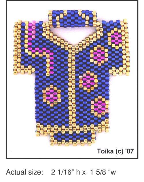 Kimono 4 Beaded Pendant Pattern | Bead-Patterns.com