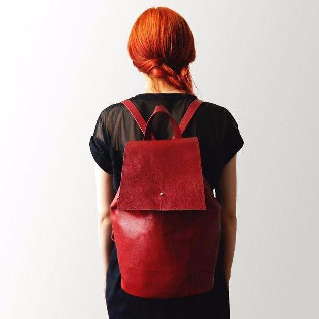 """Rucksäcke - Echtleder Rucksack """"Scarlet"""" - ein Designerstück von Erika-Szuecs bei DaWanda"""