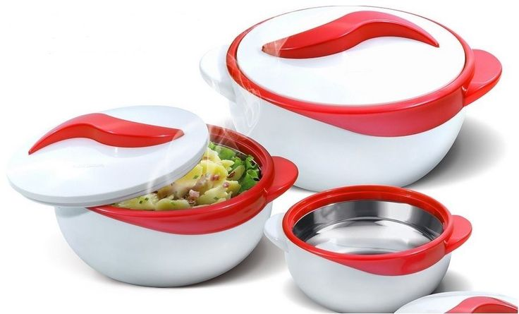 Thermo Dish Casserole Serving Bowls 3 Pc. Casserole Serving Bowls with Inner stainless steel construction and polyurethane insulation. Lightweight and really nice looking. No more lukewarm food! When preparing a meal for many individuals, everyone can enjoy the samehot or cold food at different times. | eBay!