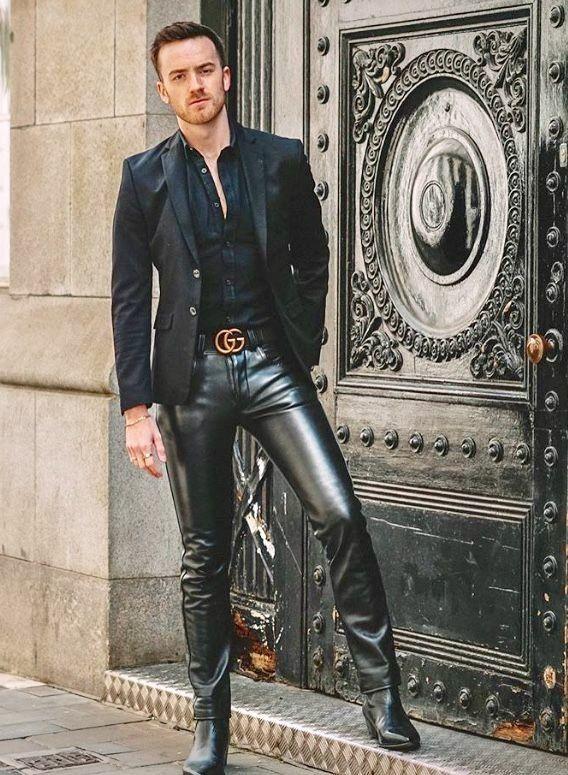 Pin von Dave auf Leather & Jeans - Men | Lederhose männer