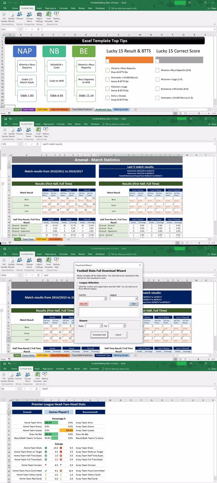 Other Soccer 2914: Football, Soccer Betting Odd Software. Microsoft Excel Spreadsheet. Auto Results -> BUY IT NOW ONLY: $30 on eBay!