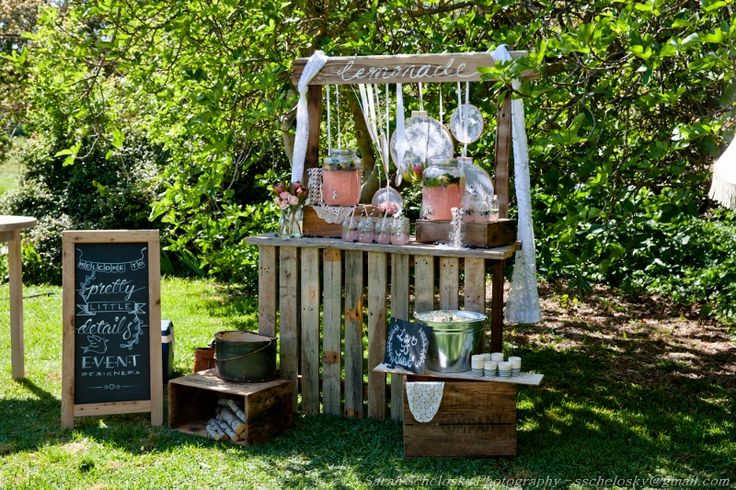 Gorgeous Lemonade Stand by Pretty Little Details @ Chateau Dore Open Day www.chateaudore.com.au