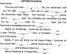 Christmas mad libs for adults - Google Search
