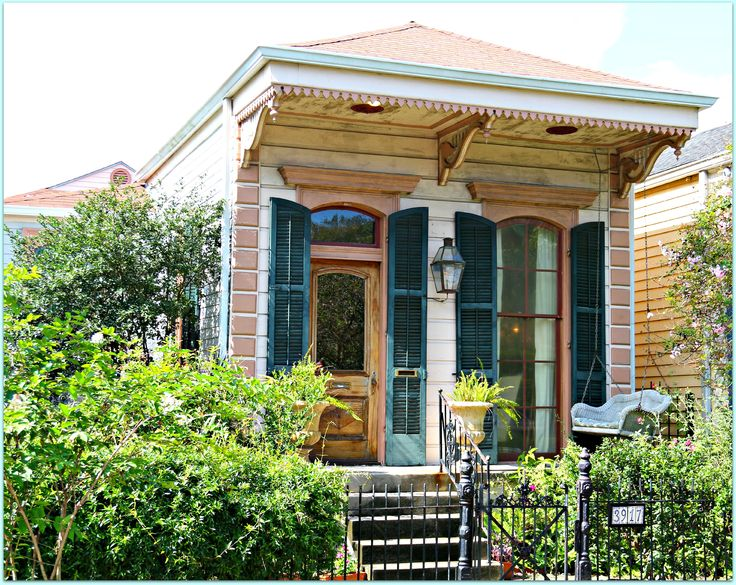 245 best new orleans row house images on pinterest for Cajun cottages