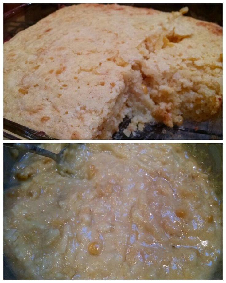Cheesy Corn Bread... Mix 1 box Jiffy corn muffin mix, 1 can creamed corn, 1/4 stick of melted butter, 2 eggs, 1/4 c buttermilk, and 4 oz shredded cheese. Pour in a greased 8x8 pan and bake for 30-35 minutes at 350 degrees. Been using this for 15 years. Extremely moist.
