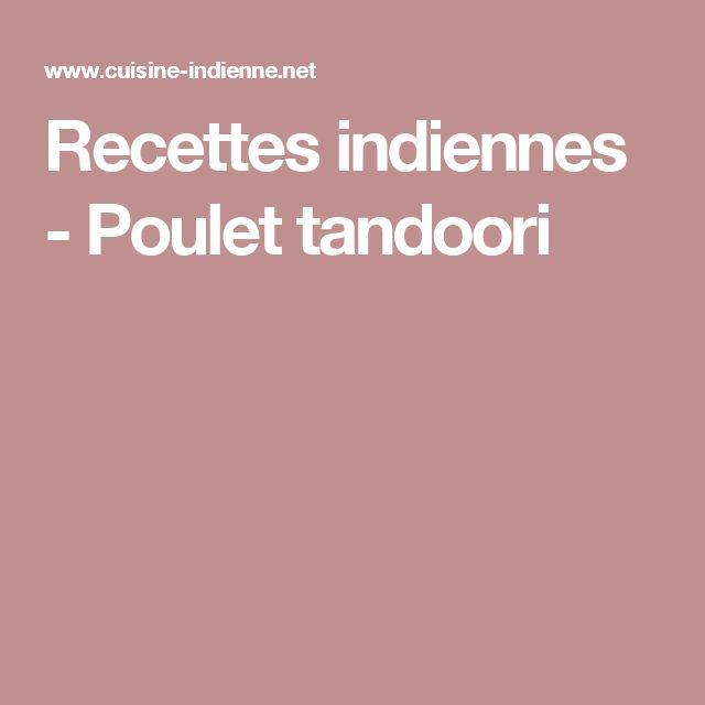 Recettes indiennes - Poulet tandoori