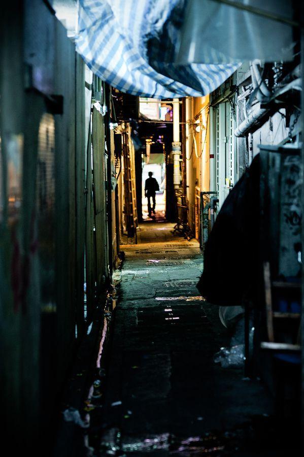 """HongKong dark street"" by baron olivier"