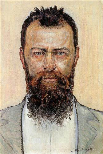 Self-portrait - Artist: Ferdinand Hodler Completion Date: 1900 Style: Art Nouveau (Modern) Genre: self-portrait