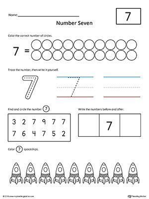 number 7 practice worksheet writing numbers printable worksheets and worksheets. Black Bedroom Furniture Sets. Home Design Ideas