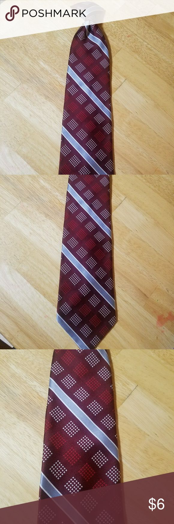 Burgundy Red and Grey clip on tie Burgundy Red and grey clip on tie.  Bundle for discount and save on shipping Accessories Ties