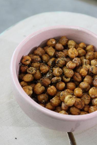 Krokante kikkererwten- lekkere snack, ipv nootjes