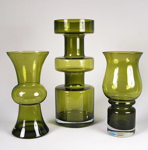 Riihimaen Lasi Oy/Riihimaki Vases 1970's