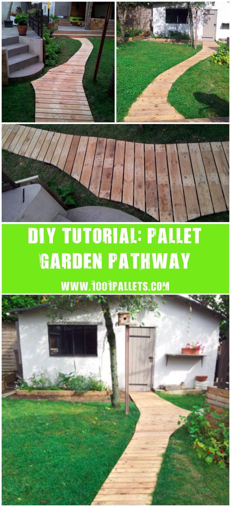 Epsom decking over a raised eyesore ashwell landscapes - Diy Pdf Tutorial Pallet Garden Pathway 1001 Pallets Free Download