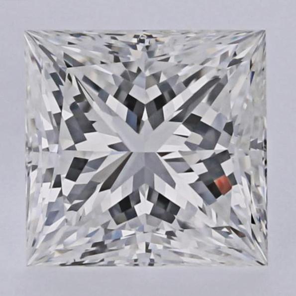 1.20 Carat F-VVS2 Premium Ideal Cut Princess Cut Diamond