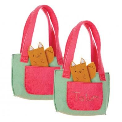 Adorable Fox Personalized Handbag: Hand Bags, Foxes Personalized, Handbags Felt, Foxes Handbags, Personalized Handbags, Felt Handbags, 34 Foxes, Adorable Foxes, Hands Bags