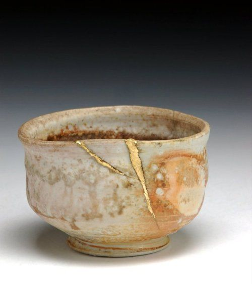 """""""When the Japanese mend broken objects, they aggrandize the damage by filling the cracks with gold. They believe that when something's suffered damage and has a history it becomes more beautiful."""" - Billie Mobayed"""