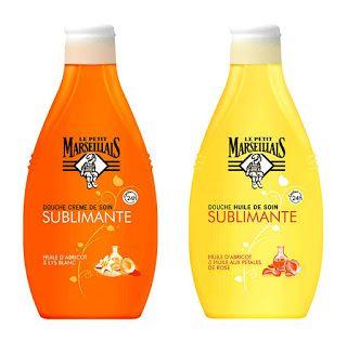 Le Petit Marseillais - apricot kernel oil & lily shower oil, apricot kernel oil & rose oil (infused) shower cream body wash