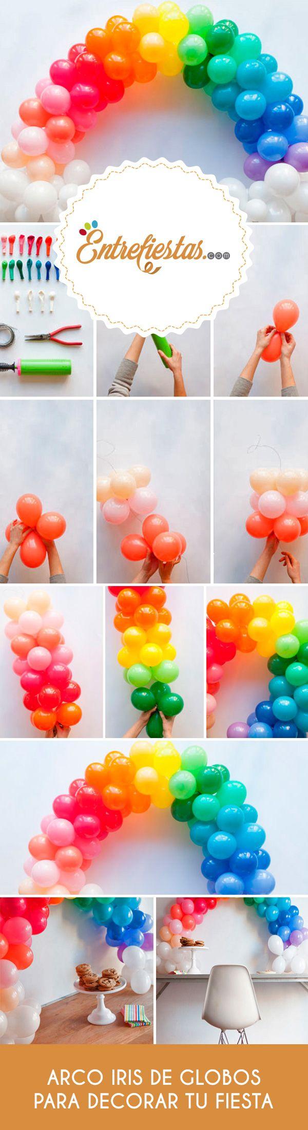 Si buscas una alternativa cargada de colores para decorar tu fiesta, aprovecha esta oportunidad para conocer paso a paso cómo elaborar un arco iris de globos para usar como telón de fondo en cualquier celebración. ¡Anímate y pon manos a la obra!