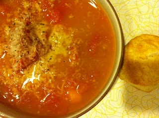 roasted tomato curry soup...sounds yummy and easy.
