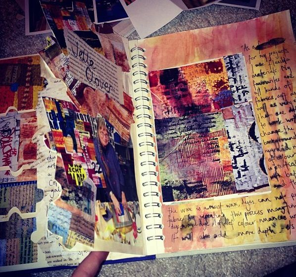 Artist research pages in my sketchbook  Great idea to liven up my school sketch book!