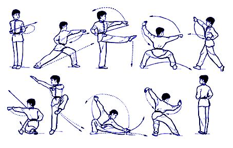 Five Stance Drill: Wushu/Northern Kung Fu; Hold Each Stance 30 seconds is a killer leg workout!