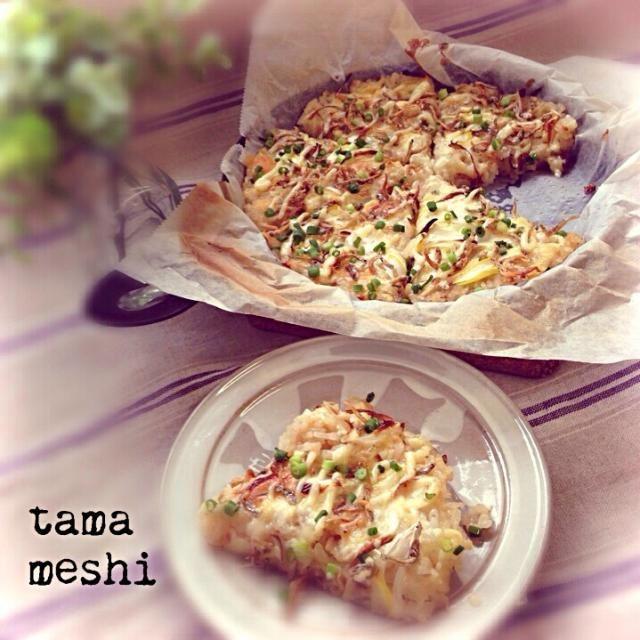 グリルパンで和風ライスピザ/tama | SnapDish[スナップディッシュ] (ID:q8DWWa)
