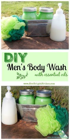 This DIY Men's Body Wash that is simple, and convenient. Not only smells great, but saves TONS of money too!