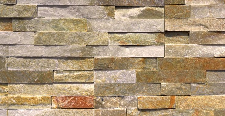 yellow quartzite split face mosaic tiles stone wall
