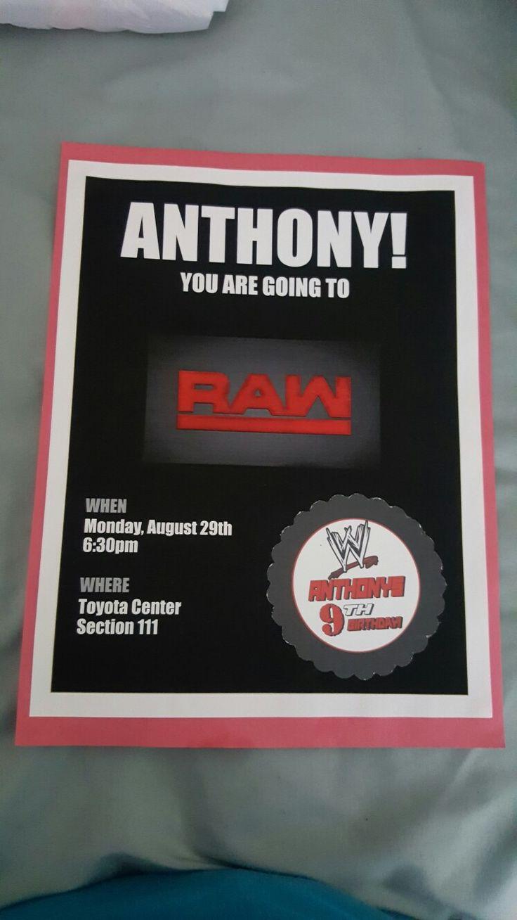 WWE Tickets Birthday Surprise