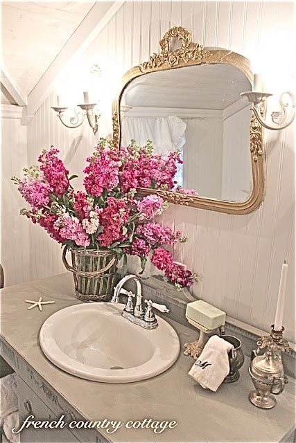 french country decorated bathroom FRENCH COUNTRY