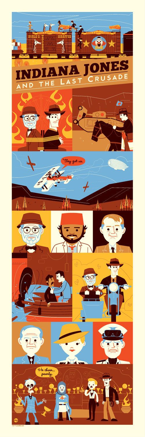 Dave Perillo's awesome Indiana Jones and the Last Crusade poster looks so good.