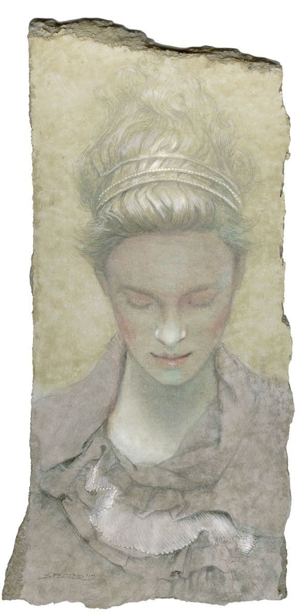 """Headbands"" Silverpoint and Watercolor By Joel Spector"
