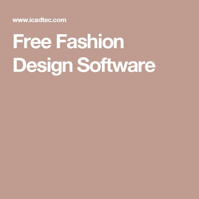 Free Fashion Design Software