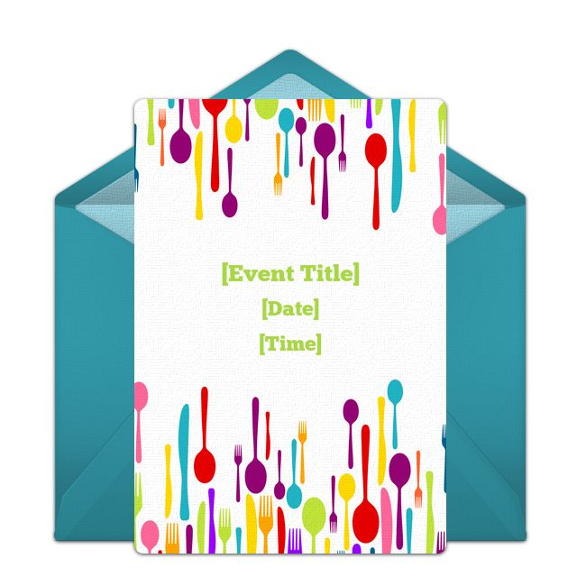 Free Food Drink Invitations Appetizers Dips Invitations
