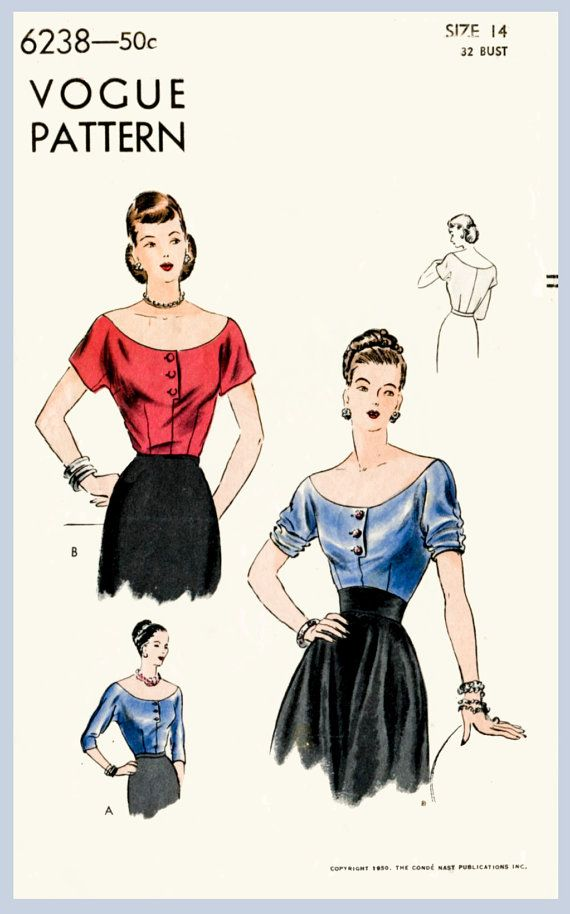 Hey, I found this really awesome Etsy listing at https://www.etsy.com/ca/listing/231883459/1950s-50s-vintage-sewing-pattern-evening